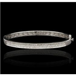 14KT White Gold 3.00ctw Diamond Bangle Bracelet GB2880