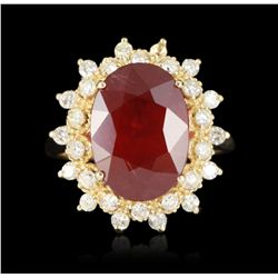 14KT Yellow Gold 7.87ct Ruby and Diamond Ring A5170