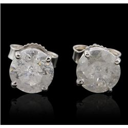 14KT White Gold 2.15ctw Diamond Stud Earrings GB4832