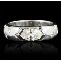 14KT White Gold 0.99ctw Diamond Ring GB2047
