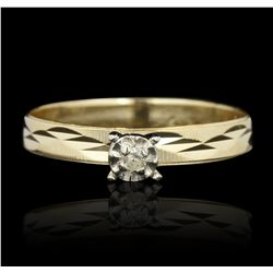14KT Yellow Gold 0.04ctw Round Cut Diamond Ring GB2757