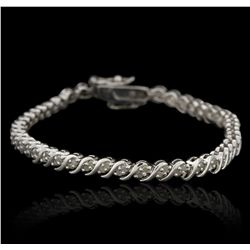 SILVER 1.00ctw Diamond Bracelet GB2934
