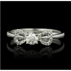 18KT White Gold 0.33ctw Diamond Ring RM1163