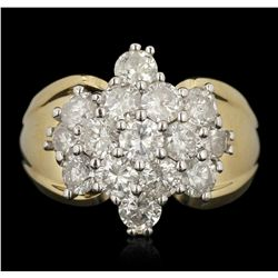 14KT Yellow Gold 2.85ctw Diamond Ring FAA68