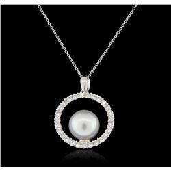 14KT White Gold 0.70ct Diamond Pendant With Chain GB2868