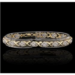 10KT Yellow Gold 0.50ctw Diamond Bracelet GB2906