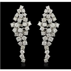 14KT White Gold 3.00ctw Diamond Earrings A5500