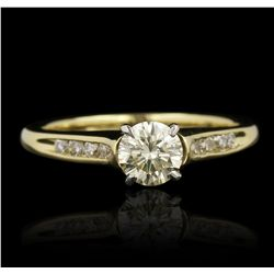 18KT Yellow Gold 0.80ctw Diamond Ring GB4300