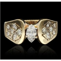 14KT Yellow Gold 0.67ctw Diamond Ring GB3315