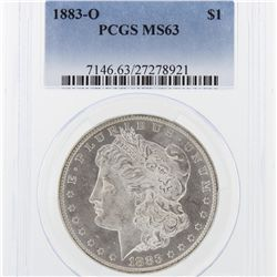 1883-O Morgan Silver Dollar PCGS Graded MS63 SCE1006