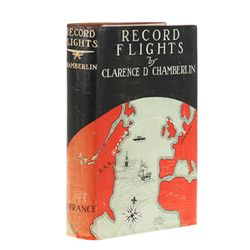 Clarence Chamberlin Signed First Edition Autobiography Record Flights