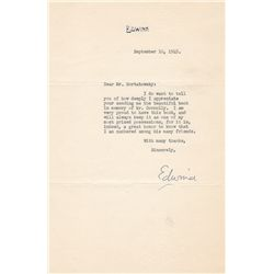 Cap Stubbs and Tippie Cartoonist Edwina Dumm Typed Letter Signed