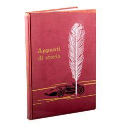 Rare Enzo Ferrari Signed Appunti di storia