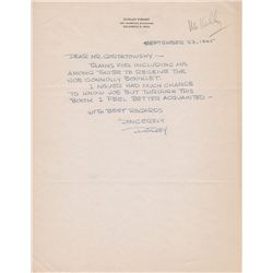Right Around Home Artist Dudley Fisher Autographed Letter Signed