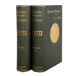 Complete Two Set Volume Personal Memoirs of U.S. Grant