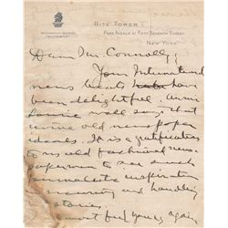 Newspaper Magnate William Randolph Hearst Autograph Letter Signed