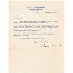 William Randolph Hearst Jr. Autograph Letter Signed