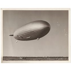 Vintage Photograph of the LZ 129 Hindenburg