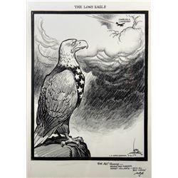 Original Karl Hubenthal Charles Lindbergh Tribute Drawing
