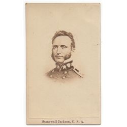 Stonewall Jackson, C.S.A. Carte de Visite
