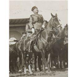 Vintage Benito Mussolini Signed Photo