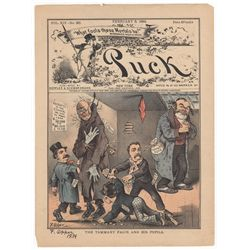Frederick Opper Signed Original Cover Print from Puck Magazine, February 6, 1884