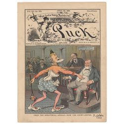 Frederick Opper Signed Original Cover Print from Puck Magazine, April 23, 1884