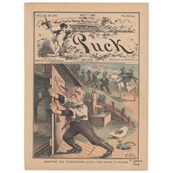Frederick Opper Signed Original Cover Print from Puck Magazine, May 7, 1884