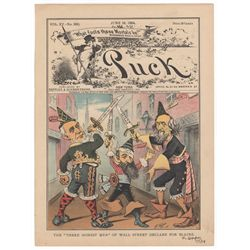 Frederick Opper Signed Original Cover Print from Puck Magazine, June 18, 1884