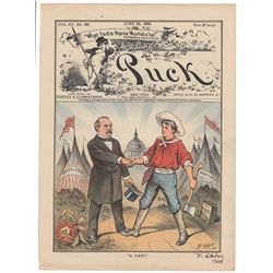 Frederick Opper Signed Original Cover Print from Puck Magazine, June 25, 1884