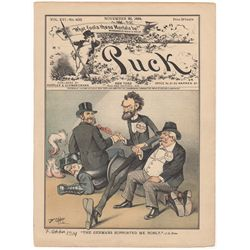 Frederick Opper Signed Original Cover Print from Puck Magazine, November 26, 1884