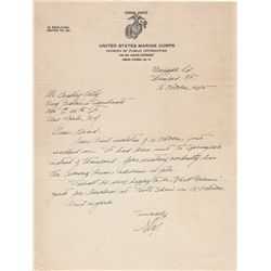 Flash Gordon Cartoonist Alex Raymond Autographed Letter Signed