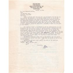 Comic Strip Artist Allen Saunders Typed Letter Signed