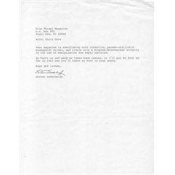 Steven Soderbergh Typed Letter Signed