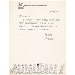 Beetle Bailey Cartoonist Mort Walker Autograph Letter Signed