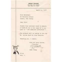 Blondie Comic Artist Dean Young Typed Letter Signed