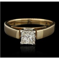 14KT Yellow Gold 0.62ct Diamond Solitaire Ring GB3009