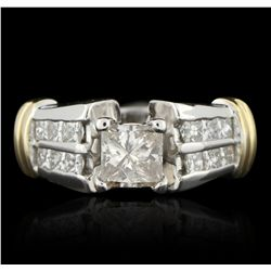 14KT White Gold 1.50ctw Diamond Unity Ring  A5947