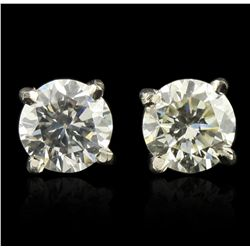 14KT White Gold 0.50ctw Diamond Solitaire Earrings A5075