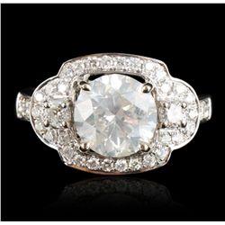 14KT White Gold 2.54ct I-1/I Diamond Ring RM1131