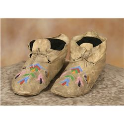 Santee Sioux Beaded Moccasins
