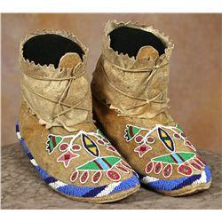 Blackfoot Beaded Moccasins