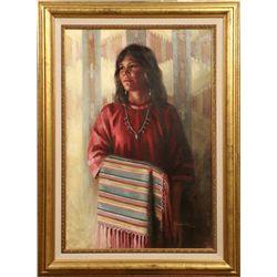 Arlene Hooker Fay, oil on board