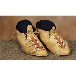 Southern Cheyenne Beaded Moccasins