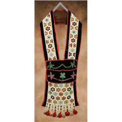 Potawatomi Beaded Bandolier Bag