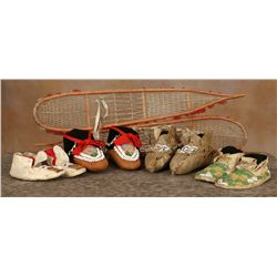 Miniature Snow Shoes and Childs Moccasins