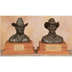 Bob Scriver, two bronzes
