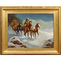 Lisandro Lopez Baylon, oil on canvas