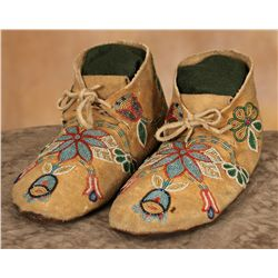 Crow Beaded Moccasins