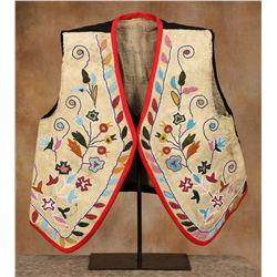 Santee Sioux Beaded Vest